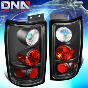 For 1997 2002 Ford Expedition Black Housing Altezza Style Tail Light Brake Lamps
