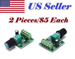 2 Pcs Low Voltage Dc 1 8v 3v 5v 6v 12v 2a Motor Speed Controller Pwm