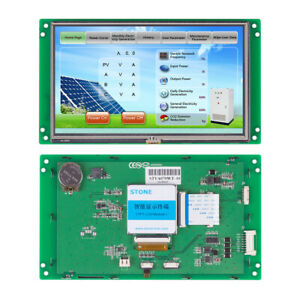 Hmi Lcd Panel Touch Screen 7 Inch High Resolution And Rs485 Ttl Interface