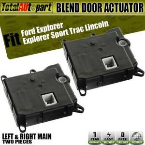 2x Hvac Heater Blend Air Door Actuator For Ford Lincoln Left And Right Main