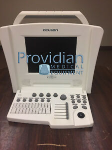 Acuson Cypress Ultrasound System With 3v2c Cardiac And 7l3 Vascular Transducers