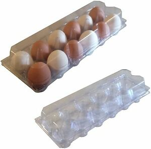 96 Pack Rite Farm Products 12 Egg Clear Poly Chicken Carton Tray Poultry S jumbo