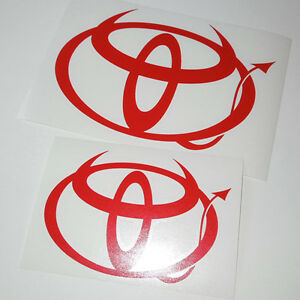Toyota Evil Logo Decals Stickers Camry Corolla 4runner Prius Tundra Tacoma Trd