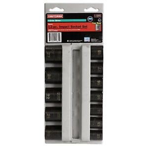 Craftsman Metric 12 Piece 1 2 Inch Drive 6 Point Laser Impact Socket Set W Case