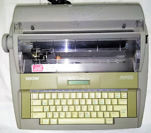 Electronic Typewriter Vintage Brother Sx 4000 Portable Office Word Processor