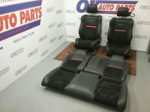 2008 09 10 Dodge Challenger Srt Seat Set Black Leather