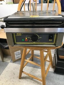 Equipex Sodir Commercial Panini Press Restaurant Equipment 14 X 9 Grill