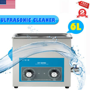 6l Ultrasonic Industry Jewelry Rings Heated Cleaner Professional With Timer Usa