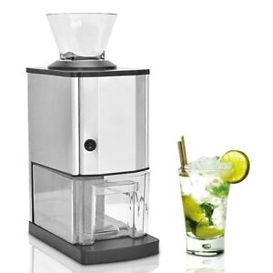 Professional Electric Stainless Steel Ice Crusher Shaver Maker Machine Tabletop