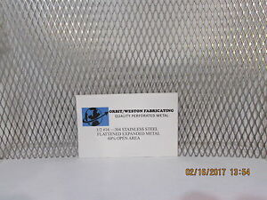 1 2 16 304 Stainless Steel Flattened Expanded Metal 12 X 35 1 2