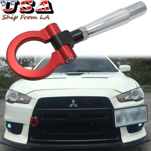 Racing Style Aluminum Tow Hook For Mitsubishi Lancer Evolution Evo X 10 2008 17