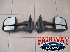 15 Thru 20 F 150 Oem Genuine Ford All Manual Telescopic Trailer Tow Mirrors Pair