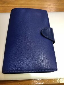 Fillofax Blue Leather Personal Planner