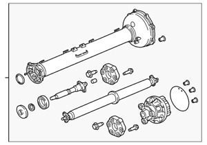Genuine Gm Drive Shaft Assembly 84016822