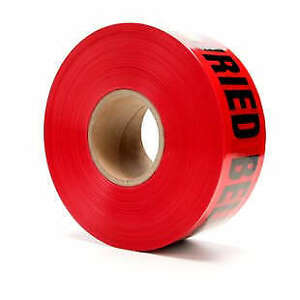 363 Caution High Voltage Cable Buried Below red 3 X 1000ft 1 Rolls