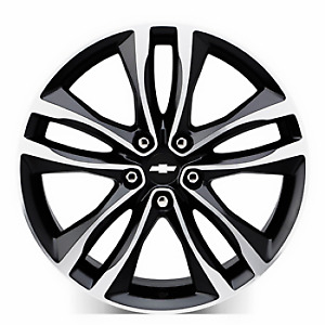 Genuine Gm 19 Wheel 5 Split Spoke Black Pockets 23506528