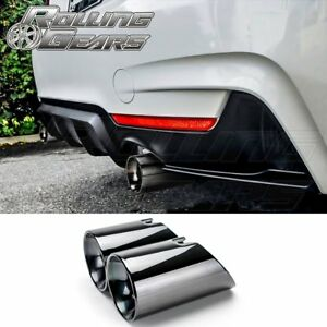 Bmw 4er F32 F33 F36 435i Gc Black Dual Exhaust Muffler 3 5 Tips 2014 2017 N55