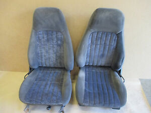 00 02 Camaro Rs Ss Z28 Ebony Cloth Seat Seats Set 1112 10