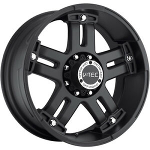18x9 Matte Black V tec Warlord 5x5 5 12 Wheels Nitto Trail Grappler 285 65 18