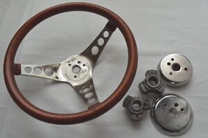 Vtg Superior Cooper Metalflake 12 Steering Wheel The 500 With 2 Adapter Hubs
