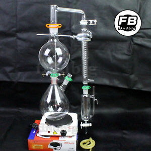 Essential Oil Steam Distillation Apparatus graham Condenser Us Seller