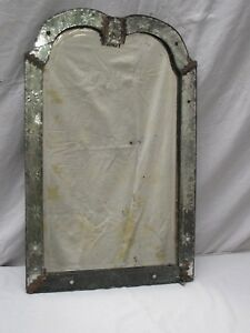 Antique Venetian Mirror Etched Starbursts 18th C