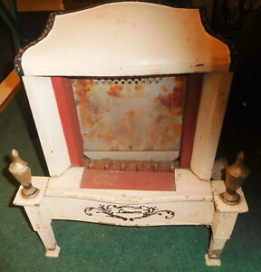 Vintage Antique Lawson Cast Iron Gas Fireplace Stove Or Heater 106 Footed Rare