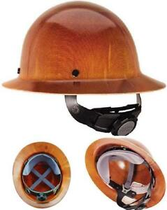 Natural Tan Hard Hat With Fastrac Suspension Safety Construction Custom Helmet