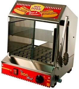 Concession Hot Dog Steamer Tabletop Stainless Steel Storage Buns Heavy Duty