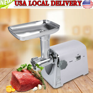 1600w Electric Meat Grinder Sausage Stuffer Industrial Stainless Steel Mincer Us