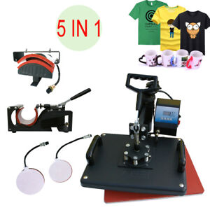 5in1 T shirt Digital Heat Press Transfer 15 x11 4 Printing Machine Swing Away