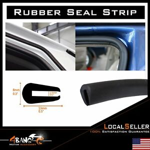 20ft Black Rubber Seal All Weather Decorate Vehicle Door Trunk Trim Strip Guard