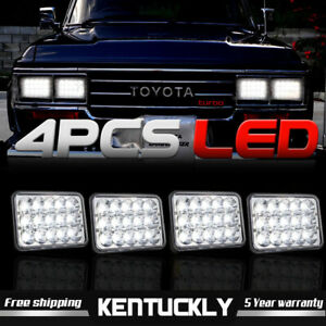 Headlights For Toyota Landcruiser 61 62 80 Series Highlow Beam 4 Pack Lamps