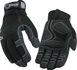 Pack Of 6 Lined Cold Weather Glove Kinco International Part 2051m Black Size