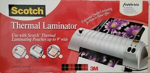 New Scotch 3m Thermal Laminator 2 Heat Roller System Tl901 9 Wide Jam Release