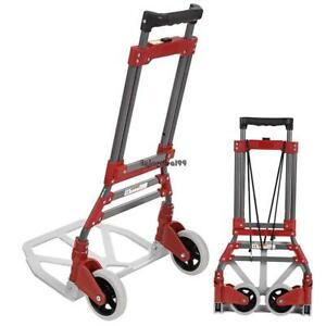 165lbs Cart Folding Dolly Collapsible Trolley Push Hand Truck Moving Warehouse