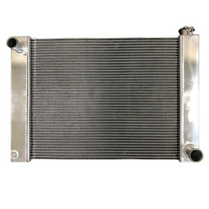2 Row Fabricated Aluminum Radiator 27 5 X 19 X 3 Overall For Sbc Bbc Chevy