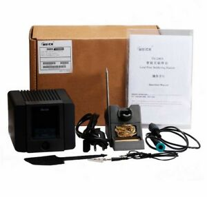 Quick Ts1200a Lcd Touch Soldering Digital Display Rework Station 120w Iron Tips