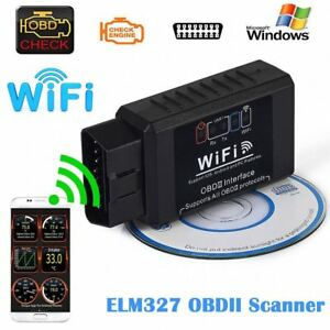 Elm327 Wifi Obd2 Obdii Auto Car Diagnostic Scanner Scan Tool For Ios Android Pc
