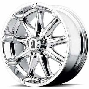 18x9 Chrome Xd Xd779 Badlands 6x5 5 12 Wheels Nitto Trail Grappler Lt285 65r18