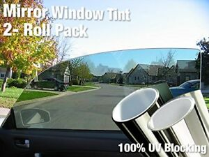 Complete Mirror Car Window Wrap Tint Glass Vinyl Film 30 X 60 2 roll Combo Pac