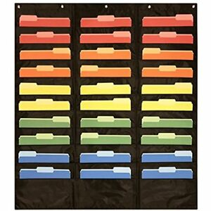 30 Pocket Storage Chart Hanging Wall File Organizer By Your Assignments