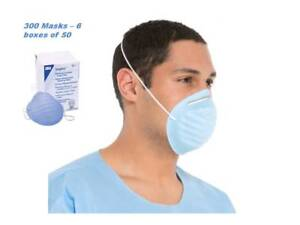 300 Pcs 3m Disposable Molded Surgical Mask Blue Dental Dust Earloop