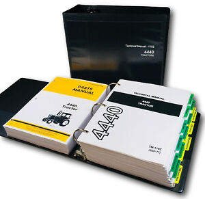 Service Parts Manual Set For John Deere 4440 Tractor Technical Repair Shop Book