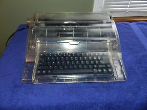 Swintec 2410cc Clear Acrylic Cabinet Electric Typewriter Tested Works Nr