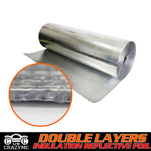 Double Bubble Foil Radiant Barrier Heat Insulation Reflective Shield 39 w