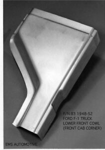1948 52 Ford Truck Lower Front Cowl