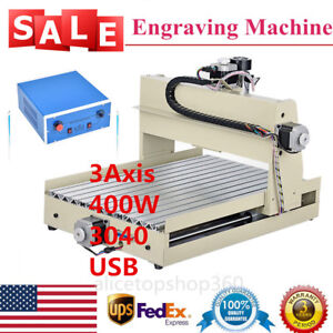 3axis 3040 400w Cnc Router Engraver Drilling Cutting Engraving Machine Usb Mach3