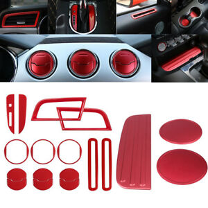 Interior Accessories Trim Dash Air Shift Gear Cover Cup Mat For Ford Mustang Ya