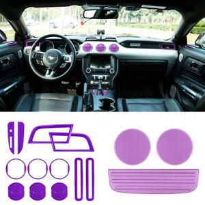 18pcs set Interior Accessories Trim Cup Mat Shift Gear Cover For Ford Mustang y